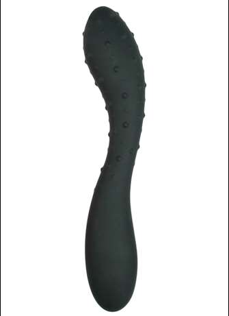 Dildo - Textured dildo sort - bilde