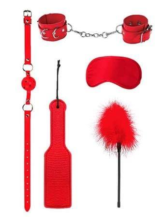 Frekke sexleketøy - Bondage kit rød Ouch - bilde