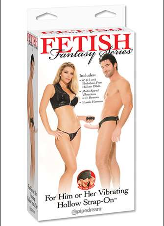 Dildo - Vibrerende hul strap-on For Him or Her - bilde