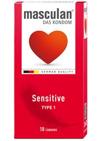 - Kondomer Masculan Sensitive 10 Pk - bilde