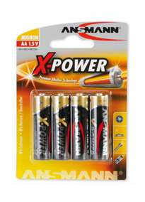 - Batterier AA 4 pk X-Power - bilde