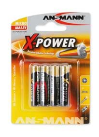 - Batterier AAA 4 pk X-Power - bilde