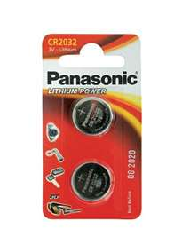 - Batterier Panasonic CR2032 2 pk - bilde