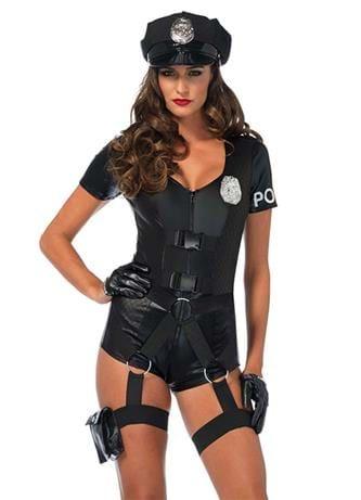 Undertøy - Kostyme sexy politi S - bilde
